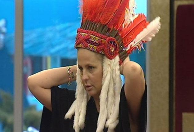 If the cap fits: Ulrika Jonsson triumphed last Friday night in the dazzlingly brilliant theatre that is 'Celebrity Big Brother'