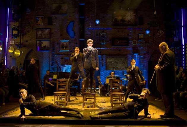 Class warfare: An ensemble scene from the show