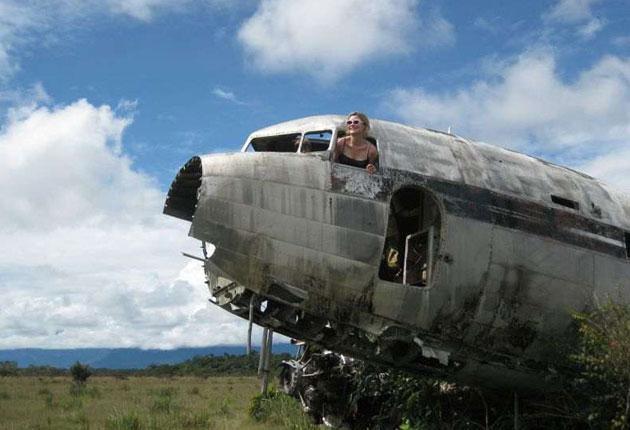 A ruined plane in Auyantepui, Venezuela