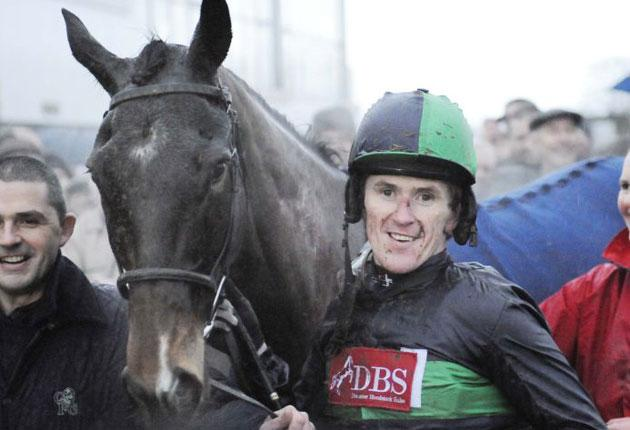 In the winner's enclosure for the 3,000th time, Tony McCoy with Restless d'Artaix at Plumpton yesterday