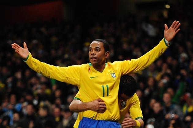 Robinho was voted man of the match for last night's performance