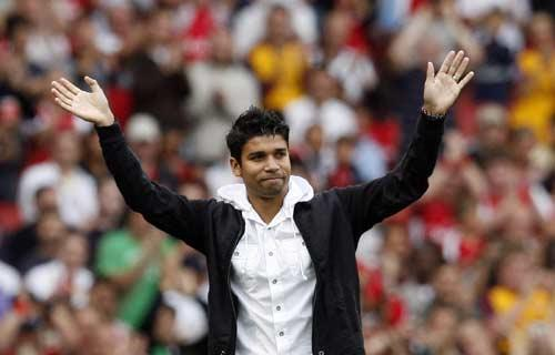 Eduardo has been playing for the Arsenal reserves
