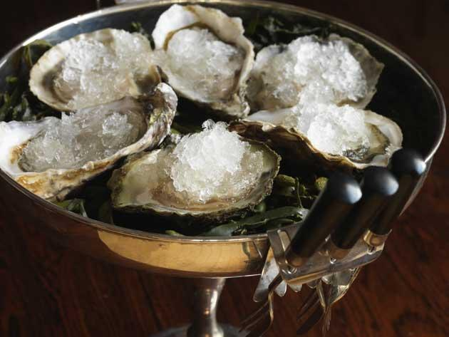 Simple starter: Oysters with champagne sherbet