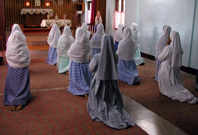 Kerala nuns at prayer. An ex-nun who wrote about life in a Kerala convent says she fears for those still living there