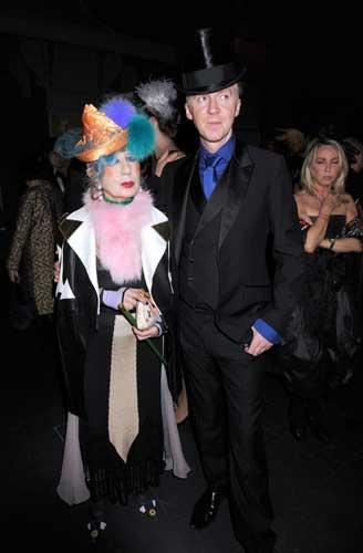Hat off to them: Stephen Jones and Erin O'Connor