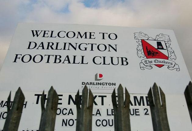 """Darlington are unlikely to be the last club to crash. """"Darlington's administration came out of absolutely nowhere,"""" said the league's spokesman, John Nagle"""