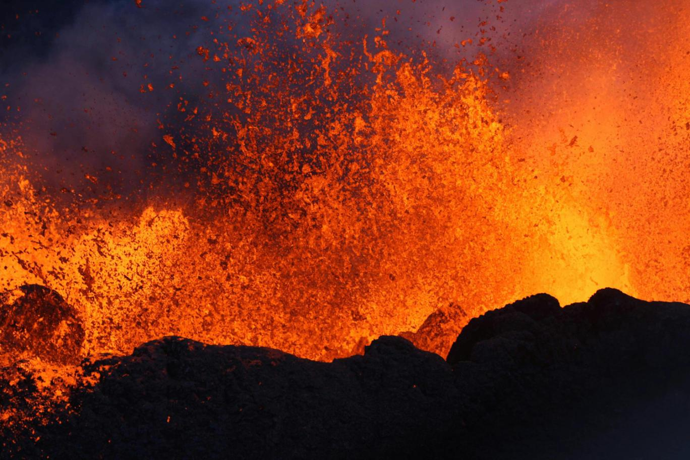 Geologists study the formation of volcanoes