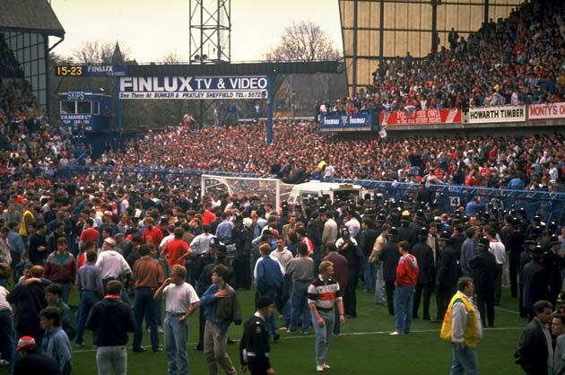 Supporters were crushed against the barrier as disaster struck at the Hillsborough Stadium