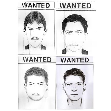 Pakistani police issued sketches today of four of the gunmen who attacked Sri Lanka's cricket team