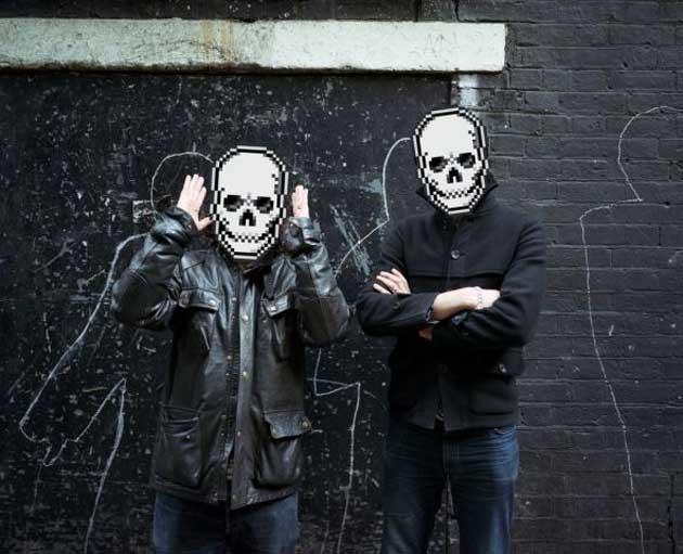Never a skull moment: a shared love of obscure psychedelia cemented Richard (left) and Erol's friendship