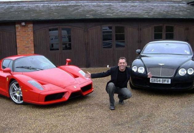 Marc Duchesne used some of the stolen money to buy a rare Ferrari Enzo, left, and a Bentley Continental