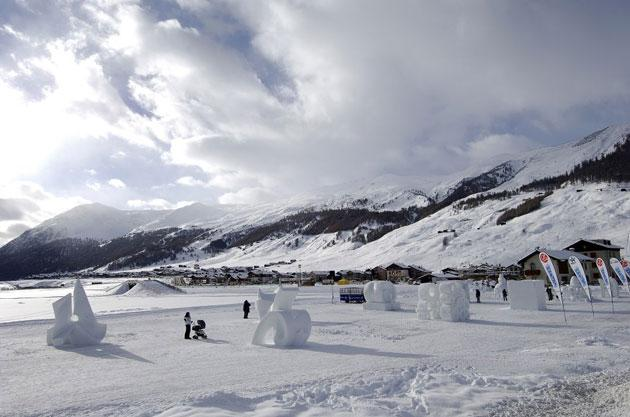 Cold as ice: Innovative sculptures add an artistic touch to the landscape of Italy's cheapest resort