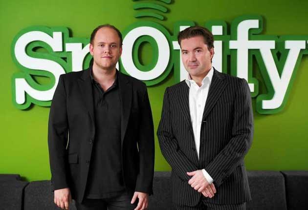 Share and share alike: Daniel Ek (left) and Martin Lorentzon of the internet jukebox Spotify