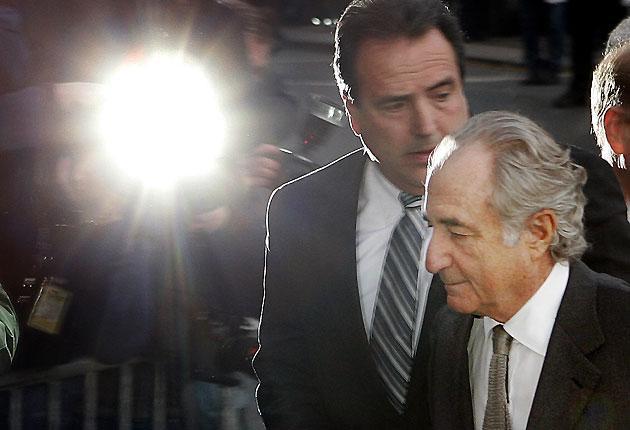 Bernard Madoff enters the Manhattan federal court house in New York