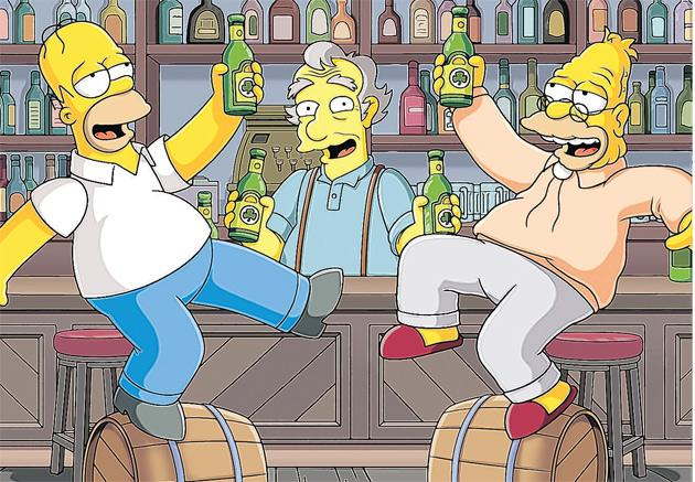 Next Tuesday, 17 March – St Patrick's Day, those already reaching for their green comedy wigs won't need telling – sees another The Simpsons first.