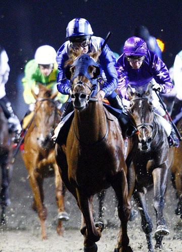 Mafaaz and Richard Hills earn the chance of a place in the Kentucky Derby line-up with victory at Kempton