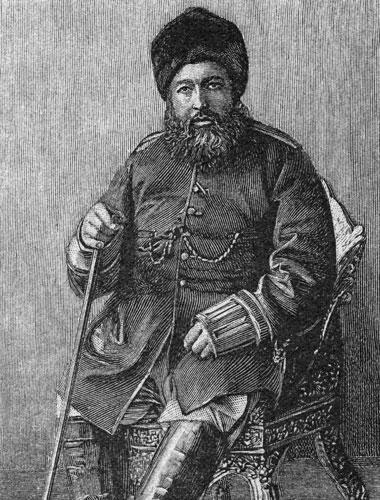 The Iron Amir is Prince Abdul Ali Seraj's great grandfather