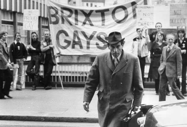 Jeremy Thorpe arrives at the Old Bailey in June 1979 where he faced charges of conspiracy and incitement to murder. Gay rights supporters objected to how homosexuality was portrayed in the trial
