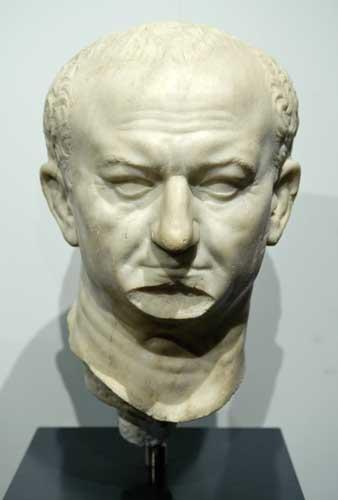 The Emperor Vespasian, responsible for many of the Roman buildings in the Italian capital