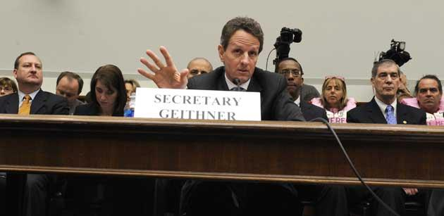 Loss and profit: US Treasury Secretary Timothy Geithner is calling on institutions and private individuals to invest in toxic assets, such as sub-prime mortgages