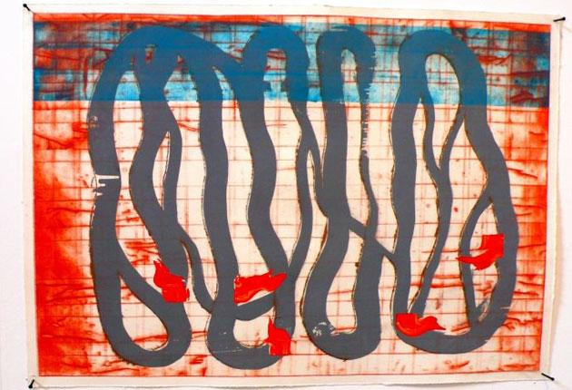 Raw touch: Gregory Smart's 'Rebellious Flesh – Blue', 2009