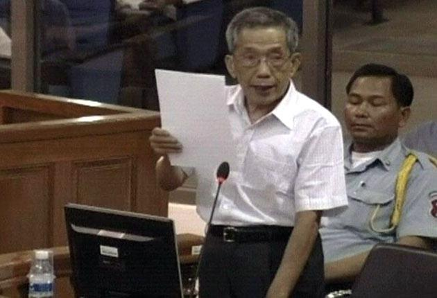 Comrade Duch appears before the UN genocide tribunal in Cambodia