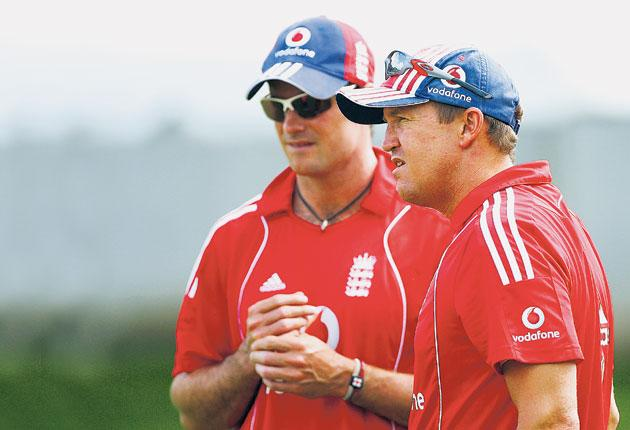 Andy Flower (right, pictured with the England captain Andrew Strauss) has shown himself to be the man for the coach's job with his hard-nosed, mature work during the West Indies tour