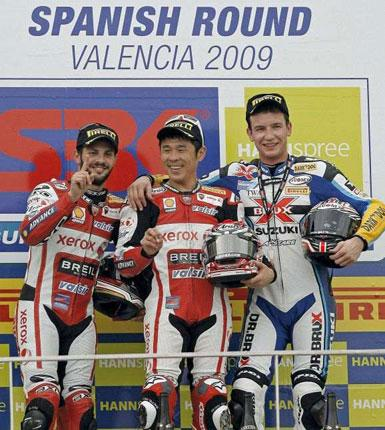 Noriyuki Haga has finished in the top two of all six races so far in the World Superbike season