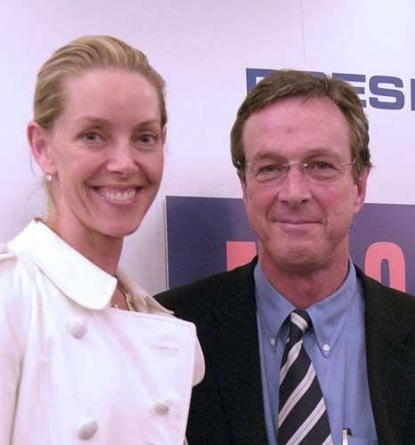 The author Michael Crichton with his wife Sherri