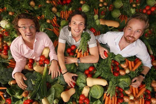 From left: the founders of Innocent, Adam Balon, Richard Reed and Jon Wright