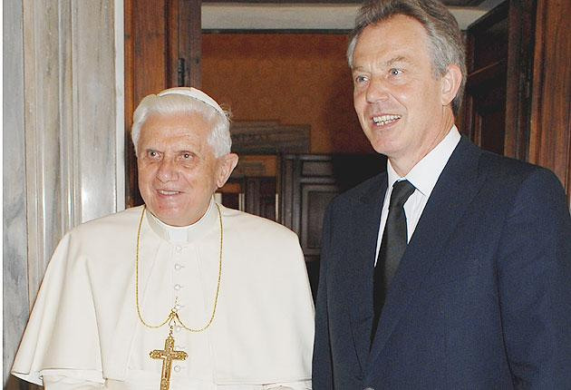 Tony Blair airs his views on Pope Benedict XVI's stance on gay rights in 'Attitude' magazine