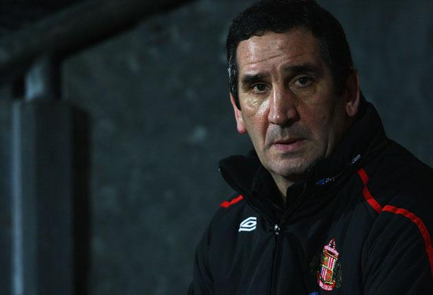 <b>Wednesday:</b> Slowly things have frayed at Sunderland and Ricky Sbragia's natural caution is not a galvanising influence. He talked of 'at least going down fighting' today.