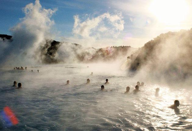 Full steam ahead: Entrance to the thermal waters of the Blue Lagoon doesn't come cheap