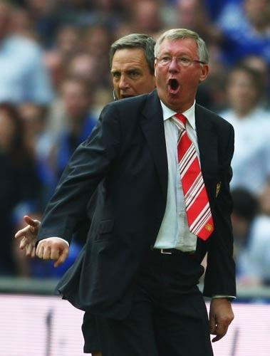 Ferguson was furious that his team were not awarded a penalty in the second half