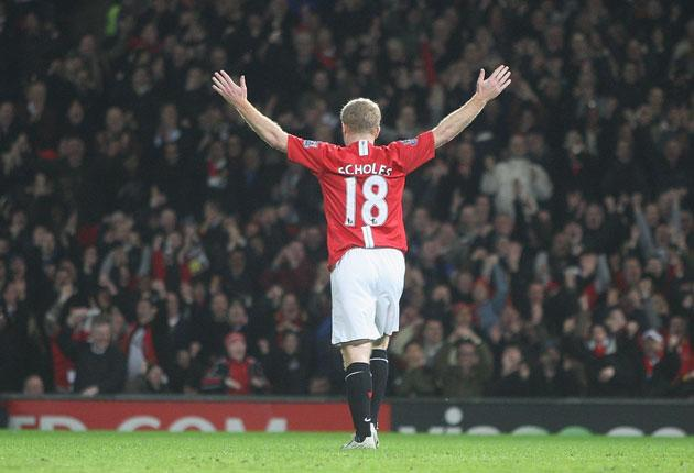 Paul Scholes has lifted 22 trophies in 15 years with Manchester United