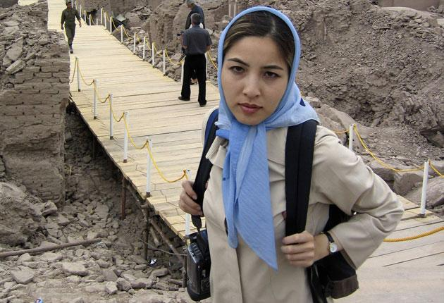 US-Iranian journalist Roxana Saberi on an assignment in Bam, 776 miles south-east of Tehran, in 2004