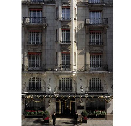 Class act: Le Bristol offers unashamed luxury in the centre of Paris