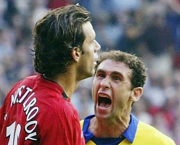 <b>THE CHARM OFFENSIVE</b><br/> When Arsenal couldn't contain their glee at a United penalty miss, what ensued would become known as the 'Battle of Old Trafford'. Ruud van Nistelrooy had complained incessantly to the referee about some physical treatment,