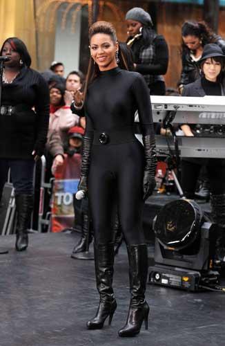 Beyoncé's all-black number earned her the soubriquet 'Sprayoncé'