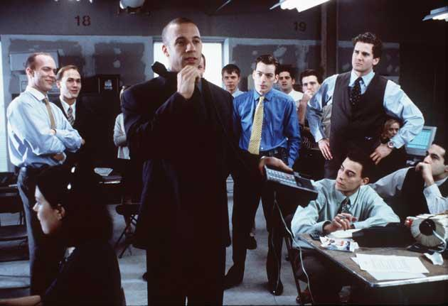 Premium rate: watch out for slick salesmen, like the one played by Vin Diesel in the 2000 film Boiler Room