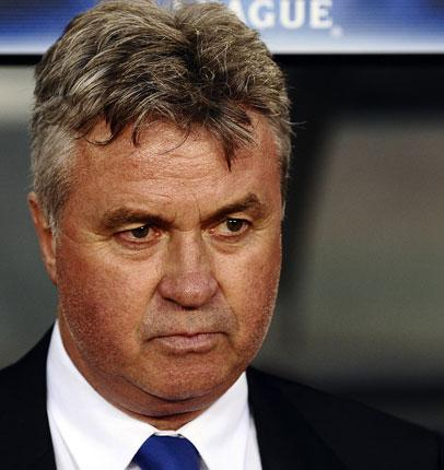 Guus Hiddink said Chelsea's game with Barcelona on Tuesday was 'a man's match'