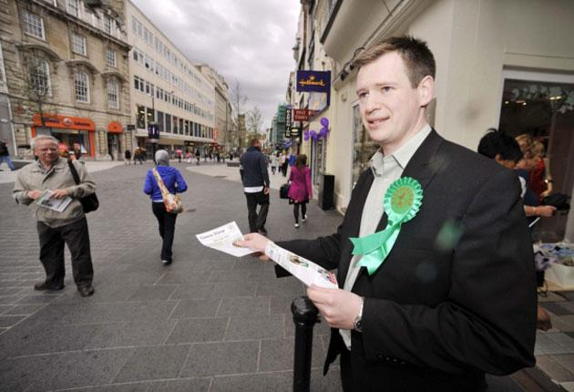 Peter Cranie is campaigning against the BNP's Nick Griffin