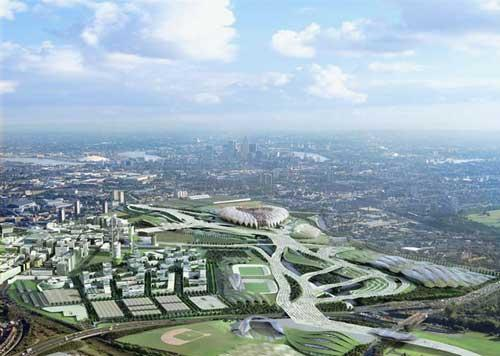An artists impression of the Olympic site