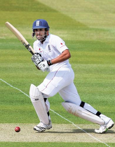 Ravi Bopara steers the ball away at Lord's as his unbeaten 118 holds the England innings together in the first Test against West Indies yesterday