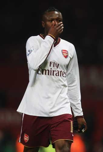 Arsenal captain William Gallas did his best impression of a child who's lost its dummy last season. During a match against Birmingham, Arsenal gave away a penalty, a decision the Frenchmen did not agree with. He began to kick the advertising boards before