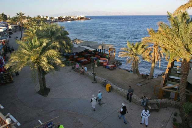 The beach near the Egyptian Red Sea resort of Dahab