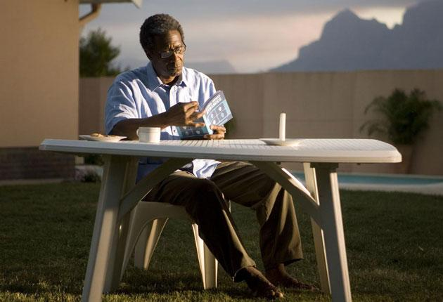 Cry freedom: Clarke Peters as Nelson Mandela in 'Endgame', which makes a powerful argument for engagement over isolation