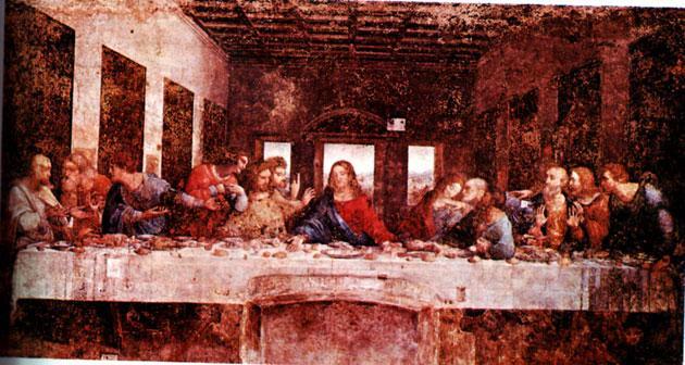 Da Vinci's The Last Supper: the real room resembles a mosque