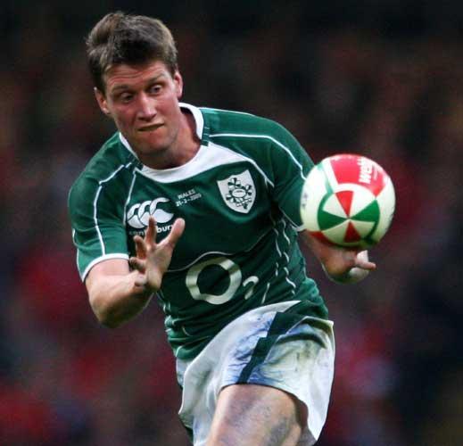 Ronan O'Gara kept his hands in his pockets when introduced to the Queen