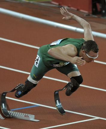 Oscar Pistorius, known to the world as the Blade Runner, is set to compete in the BT Paralympic World Cup today in the Manchester Regional Arena